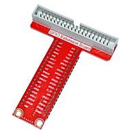 type t GPIO utvidelseskort tilbehør til Raspberry Pi b + - rød