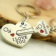 lega d'argento placcato ti amo cuore portachiavi portachiavi per San Valentino amante (una coppia)