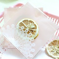 Pink Lace Cookies Bag Set Of 10