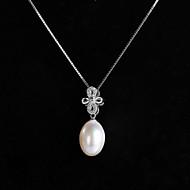 Halsband Pärla Dam Speciellt Tillfälle Sterling Silver