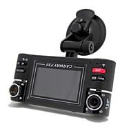 """double lentille 2.7 """"LCD voiture double caméra avec vision de nuit, boîte noire voiture hd véhicule DVR conduite caméscope enregistreur vidéo"""