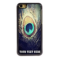 gepersonaliseerde telefoon geval - pauwenveren ontwerpen metalen behuizing voor de iPhone 5c