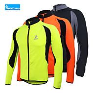 arsuxeo vellón ciclo Jersey invierno cálido bici bicicleta térmica abrigo deportivo al aire libre de los hombres