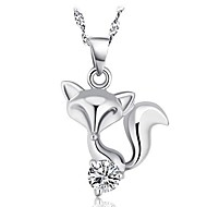 925 Silver Fox Pendant With Cubic Zirconia