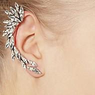 Klipszes fülbevalók utánzat Diamond Európai Drágakő Strassz Ötvözet Ezüst Ékszerek Mert Napi Hétköznapi