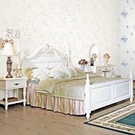 papel de parede revestimento de parede, papel de parede floral clássica não-tecidos