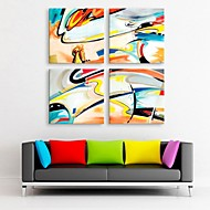 E-HOME® Stretched Canvas Art Abstract Decoration Painting Set of 4