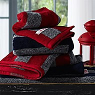 SenSleep® 3pcs Hand Towels Pack, Black or Red Stripe Design 100% Cotton Hand Towel