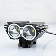 Iluminação Luzes de Bicicleta / Luz Frontal para Bicicleta LED 2500 Lumens Modo Cree XM-L U2 18650.0Prova-de-Água / Recarregável /