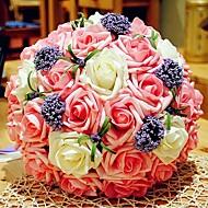 brude blomst romantisk bryllup brudens buket brudepige bryllup souvenir rose blomst (flere farver)
