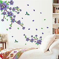 Wandaufkleber Wandtattoo, natürliche lila Pflaumenblüte PVC-Wandaufkleber