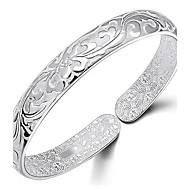 925 sterling silver teppe av blomster armbånd