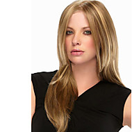 peruca sintética reta naturais sem tampa loira longo de alta qualidade