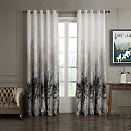 Two Panels Curtain Country Bedroom Polyester Material Curtains Drapes Home Decoration For Window