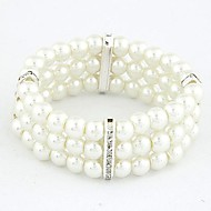 Fashion Wild Temperament Rhinestone Pearl Bracelet (More Colors)