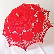 Casamento / Praia / Diário / Mascarilha Renda / Algodão Guarda-chuva 26polegadas (Aprox.66cm) Metal / Madeira 30.7polegadas (Aprox.78cm)