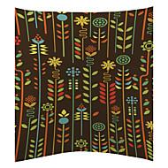 färgrik växt mönster sammet dekorativa kuddöverdrag