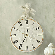 Cupid Theme Embossed Polyresin Wall Clock
