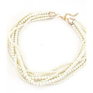 European Style Fashion Wild Multi-layer Pearl Necklace