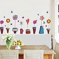 Wandaufkleber Wandaufkleber Blumentopf Stil dekorative Sticker