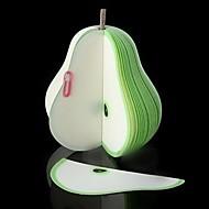 lindo fruta novedad niños pera verde papel libreta del cojín de nota regalo de los niños de retorno del banquete de boda regalo de cumpleaños