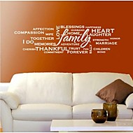 Wall Stickers Wall Decals, Modern Family Quote PVC Wall Stickers.