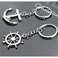 vele e timone interessante di alta qualità in acciaio inossidabile portachiavi simbolo portachiavi d'amore (una coppia)