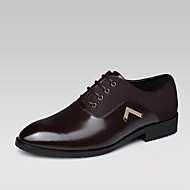 Men's Shoes Office & Career/Casual Patent Leather Oxfords Black/Brown