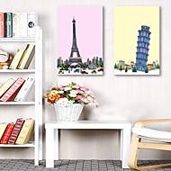 e-Home® venytetty kankaalle art kuuluisimmista rakennuksista Euroopassa sisustusmaalaus sarja 2