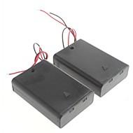 3 חבילות מקרה בעל חריץ תיבת סוללה סטנדרטית לסוללות 2a aa מחסנית 6V (2pcs)