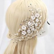 Dame/Blomsterpige Krystal/Legering/Imiteret Perle/Kvadratisk Zirconium Medaljon Bryllup/Speciel Lejlighed BlomsterBryllup/Speciel