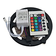 JIAWEN® 5M 300X3528 SMD RGB LED Strip Light with 24Key Remote Controller (DC12V)