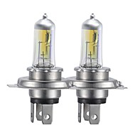 H4 100W Super Yellow HID Xenon Halogen Bulb Headlight for Cars (DC 12V/ pair)