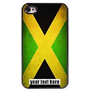 아이폰 4 / 4S에 대한 자메이카 디자인 금속 케이스의 개인화 된 경우 플래그