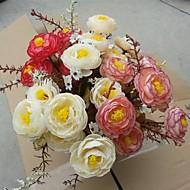 7 Forks 7 Head High Quality Autumn Tea Bud Rose Simulation Flower Set of 3