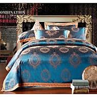 Bettbezug-Set, Jacquard-modale Baumwollbettwäschesatz hochwertigen Hochzeitsgeschenk Luxus-Bett-Suite König Queen-Size-Betten
