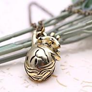 mode hule hjerte vedhæng legering vedhæng halskæde (gyldne, sølv) (1 stk)