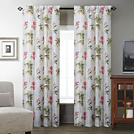 TWOPAGES® (Two Panels) Nifty Coconut Tree Pattern Curtain