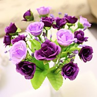 "7.9""L Set of 1 Noble 21 Heads Multicolor Diamond Roses Silk Cloth Flowers(Assorted Colors)"