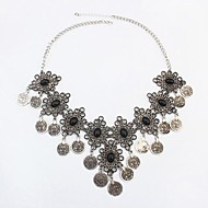 European Style High-end Fashion Gemstone Coin Necklace