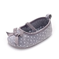 Girl's Flats Spring / Summer / Fall First Walkers / Crib Shoes Fabric Wedding / Dress / Casual / Party & Evening Bowknot / Gore Gray