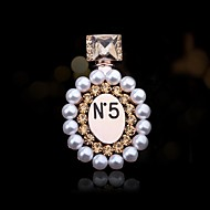 Women's Fashion Rhinestone Perfume Bottle Brooch