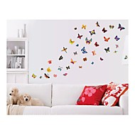wall stickers Vægoverføringsbilleder, style sommerfugl farve pvc wall stickers