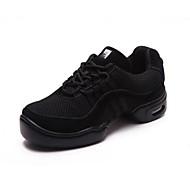 Non Customizable Men's Dance Shoes Dance Sneakers Fabric Low Heel Black