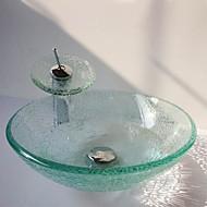 עדכני 1.2*42*14.5 עגול חומר סינק הוא זכוכית מחוסמת כיור אמבטיה ברז אמבטיה טבעת הצבה לאמבטיה ניקוז מי אמבטיה