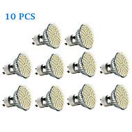 3W GU10 Spot LED 60 SMD 3528 240 lm Blanc Chaud / Blanc Froid AC 100-240 V 10 pièces