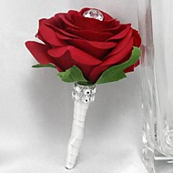 Wedding Flowers Roses Boutonnieres Wedding Party/ Evening Satin