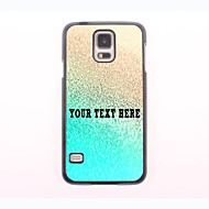 gepersonaliseerde telefoon case - regenwater ontwerp metalen behuizing voor Samsung Galaxy S5