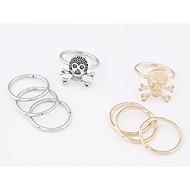 anillo esqueleto de metal de la personalidad de estilo europeo (4pcs) (más colores)