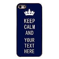 εξατομικευμένες μπλε περίπτωση διατηρούμε την ψυχραιμία μας υπόθεση μεταλλικό σχεδιασμό για το iphone 5 / 5s